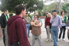 Spring Fling walkers enjoy Mike's poetry, architecture, and history